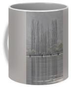 Paddling Under Poplars Coffee Mug