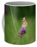 Painted Lady Butterfly In Shadows Coffee Mug