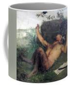 Pan Whistling At A Blackbird 1863 Coffee Mug