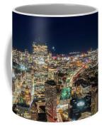 Panoramic View Of The Boston Night Life Coffee Mug