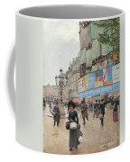 Paris, Rue Du Havre Circa 1882 Coffee Mug