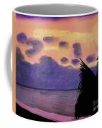 Pastel Palm Tree Sunrise Coffee Mug