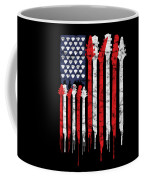 Patriotic Guitar Flag America Lovers Guitar Music Lovers Gifts Coffee Mug