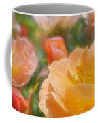 Peach Yellow Roses Coffee Mug