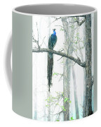 Peacock In Winter Mist Coffee Mug