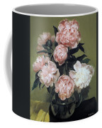 Peonies Front And Center Coffee Mug