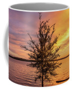 Percy Priest Lake Sunset Young Tree Coffee Mug by D K Wall
