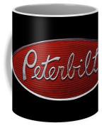Peterbilt Emblem Black Coffee Mug