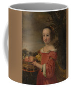 Petronella Elias       With A Basket Of Fruit  Coffee Mug