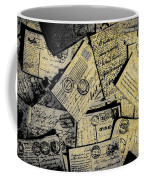 Piled Paper Postcards Coffee Mug