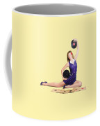 Pin-up Woman Balancing Sound With Record Music Coffee Mug