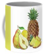 Pineapple Pear Watercolor Food Illustration  Coffee Mug