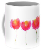 Pink Beauties Watercolor Painting Coffee Mug