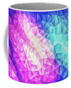 Pink Ice Blue  Abstract Polygon Crystal Cubism Low Poly Triangle Design Coffee Mug