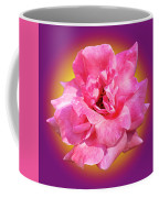 Pink Rose With Background Coffee Mug by Howard Bagley
