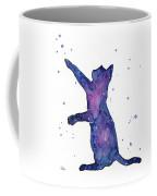 Playful Galactic Cat Coffee Mug