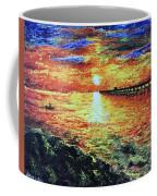 Pondicherry Beach Sunrise Coffee Mug