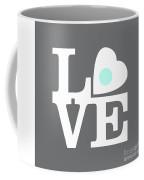 Pop Art Love In Gray Coffee Mug