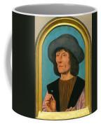 Portrait Of A Man With A Pink Coffee Mug