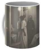 Portrait Of Henry Lerolle With Two Of His Daughters  Coffee Mug
