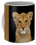 Portrait Of Little Lion Coffee Mug by Sergey Taran