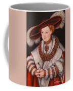 Portrait Of Magdalena Of Saxony, Wife Of Elector Koachim II Coffee Mug