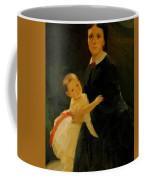 Portrait Of Shestova With Daughter Coffee Mug