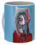Portrait On Blue Coffee Mug