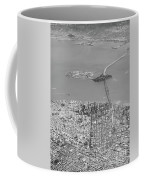 Portrait View Of Downtown San Francisco From Commertial Airplane Coffee Mug