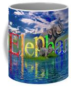 Precious E Is For Elephant Coffee Mug