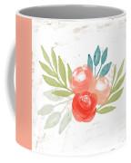 Pretty Coral Roses - Art By Linda Woods Coffee Mug