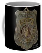 Prohibition Agent Badge Coffee Mug
