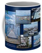 Provincetown Marina Cape Cod Massachusetts Collage Coffee Mug