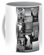 Provincetown Town Hall Cape Cod Massachusetts Collage Bw Vertical Coffee Mug