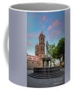 Puebla Zocalo And Cathedral Coffee Mug