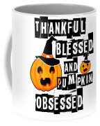 Pumpkin Obsessed Halloween Jackolantern Witch Hat Light Coffee Mug