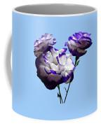 Purple And White Lisianthus Coffee Mug