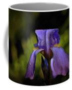 Purple Iris And Dewdrops II Coffee Mug