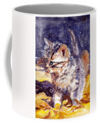 Pussy On A Yellow Blanket Coffee Mug