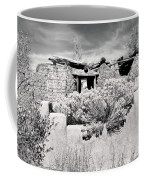 Rabbitbrush And Adobe Ruins In Sepia Coffee Mug