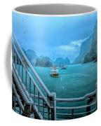 Rain Aboard Au Co Cruise Ha Long Bay  Coffee Mug