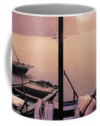 Rain Storm Ha Long Bay Boat People Homes Coffee Mug