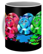 Rainbow Painted Cats Coffee Mug