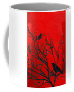 Raven - Black Over Red Coffee Mug