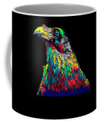 Raven Head Weird Bird Lucky Vintage Design Coffee Mug