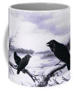 Ravens In Winter Coffee Mug
