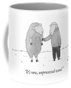 Raw Unprocessed Wool Coffee Mug