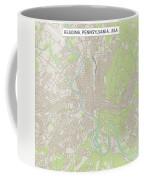 Reading Pennsylvania Us City Street Map Coffee Mug