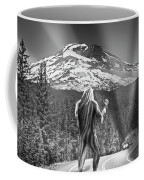Rear View Of A Sasquatch Hitchhiking Coffee Mug