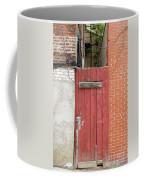 Red Alley Door Chinatown Washington Dc Coffee Mug by Edward Fielding